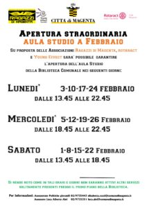 APERTURE STRAORDINARIE AULA STUDIO PRESSO BIBLIOTECA COMUNALE O. FALLACI