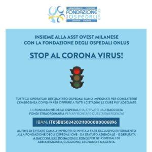 Coronavirus, la Fondazione degli Ospedali lancia una raccolta fondi
