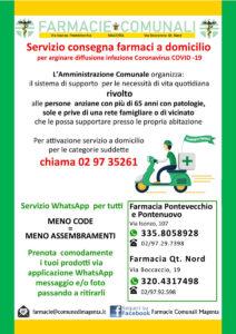 Coronavirus, attivato il servizio di consegna a domicilio dei farmaci