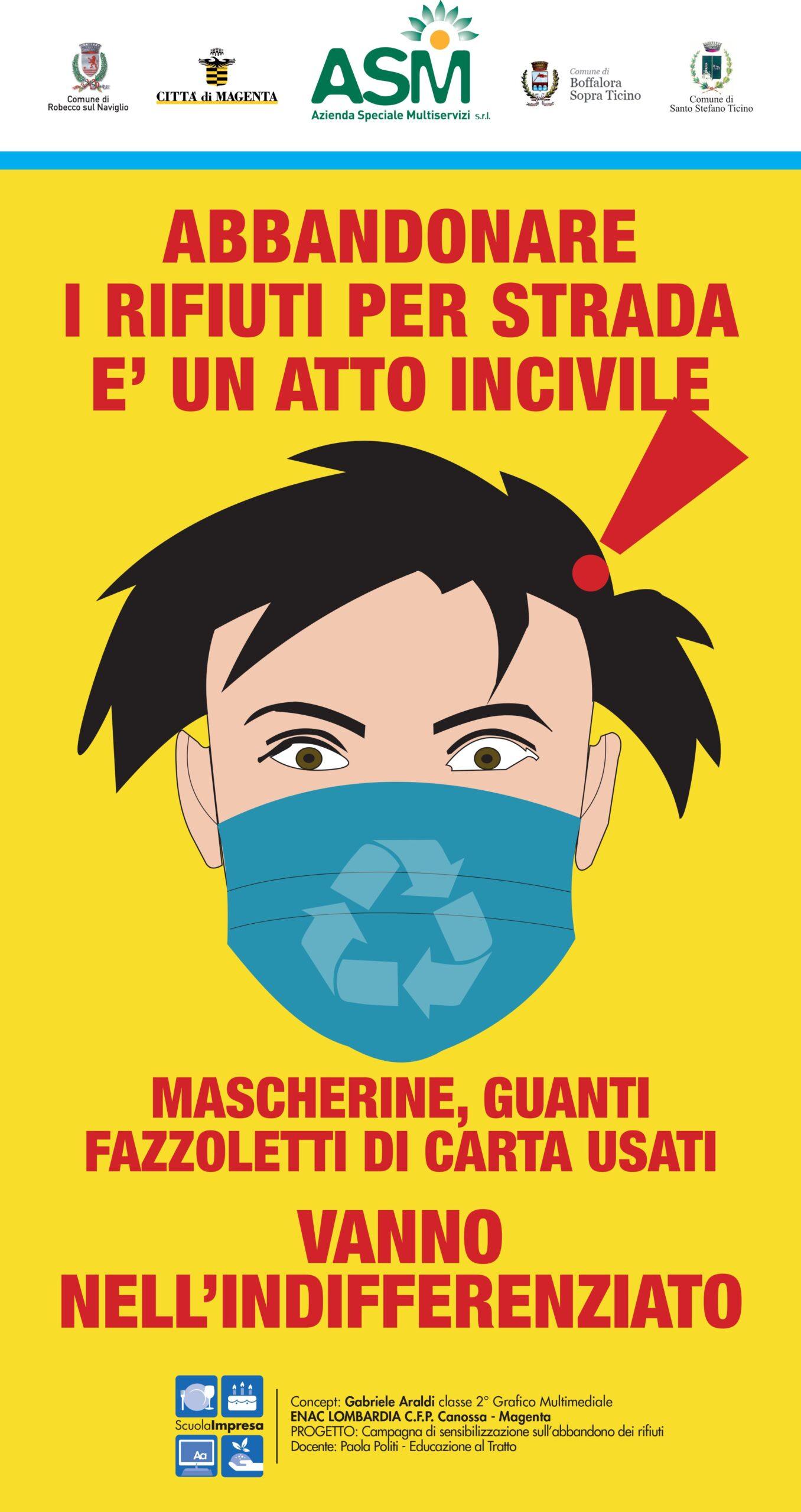 campagna abbandono mascherine asm 6