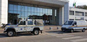 La Protezione Civile a supporto della campagna di vaccinazione antinfluenzale all'ospedale Fornaroli