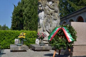 25 Aprile 2021, cerimonia presso il cimitero per la celebrazione della  Festa della Liberazione