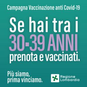 VACCINAZIONE COVID 39-30 ANNI