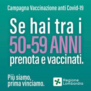 VACCINAZIONE COVID 59-50 ANNI