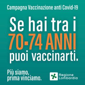 VACCINAZIONE COVID 74-70 ANNI