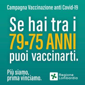 VACCINAZIONE COVID 79-75 ANNI