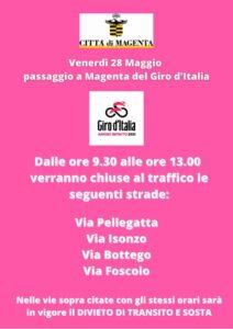 Il Giro d'Italia passa da Magenta: le modifiche alla viabilità per venerdì 28 maggio