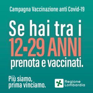 VACCINAZIONE COVID 12-29 ANNI