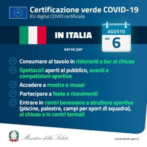 Certificazione verde Covid-19 (Green pass), le informazioni utili