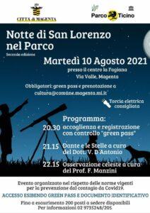"""Notte di San Lorenzo al Parco del Ticino, il Sindaco Calati: """"Una serata insieme unendo cultura, natura e scienza"""""""
